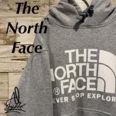 """Thumbnail of """"《デカロゴ》North Face ノースフェイス パーカー M☆グレー 灰色"""""""
