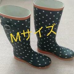 """Thumbnail of """"水玉長靴 ドット 紺 長靴 Mサイズ 23〜24,5"""""""