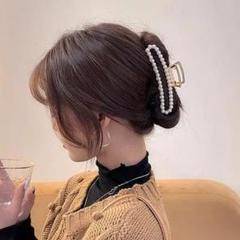 """Thumbnail of """"♥︎︎バンズクリップ・ヘアクリップ♥︎︎エレガント.パール(スクエア)   韓国"""""""