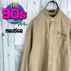 """Thumbnail of """"90's ノーティカ 企業系 ワンポイント スタンドカラーノーカラーシャツ"""""""