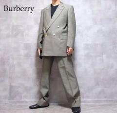 """Thumbnail of """"Burberry グレー ウール 金ボタン ダブルジャケット セットアップ"""""""