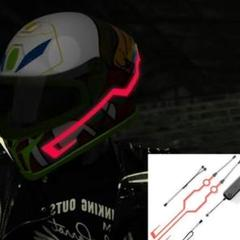 "Thumbnail of ""オートバイ バイク ヘルメットイルミネーション LEDライト EL冷光 赤2枚"""