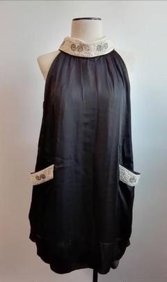 "Thumbnail of ""アクシーズファム ワンピース ドレス 黒 ビジュー 結婚式 入学式 新品"""