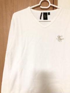 "Thumbnail of ""カールカナイ KARL KANI ロゴ刺繍 ラメ糸 Vネック 長袖Tシャツ"""