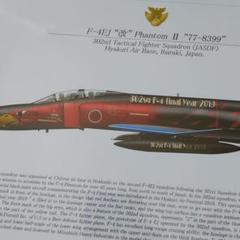 "Thumbnail of ""航空自衛隊 第302飛行隊 F-4EJ改 ポスター A4 オジロ スペマ"""