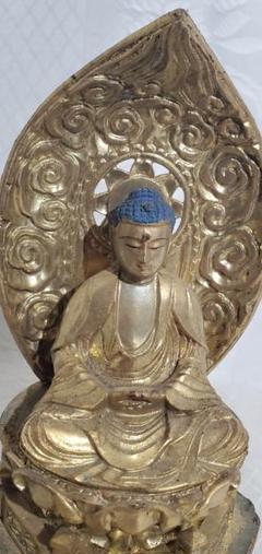"Thumbnail of ""時代物 木彫のお釈迦様 仏像 仏教美術 骨董品、美術品"""
