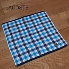 "Thumbnail of ""LACOSTE ラコステ タオル ハンカチ チェック 未使用 タオル生地 ブルー"""