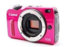 超美品 Canon キャノンEOS M2 ボディWi-Fi内蔵 レッド 箱付き
