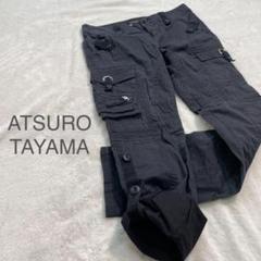 """Thumbnail of """"【ATSURO TAYAMA】ロールアップパンツ ワークパンツ S ブラック"""""""