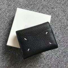 """Thumbnail of """"メゾンマルジェラ 3つ折り財布 ブラック 21SS 【新品未使用】"""""""