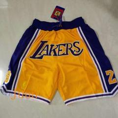 "Thumbnail of ""NBAロサンゼルスレイカーズの黄い8-24のショーツJUST DONs"""