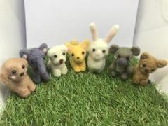 "Thumbnail of ""にぎやかな 動物たち 7点セット 羊毛フェルト"""
