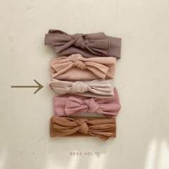 "Thumbnail of ""韓国子供服 BEBE HOLIC ribbon hairband アイボリー"""