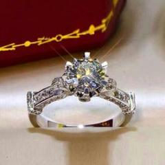 """Thumbnail of """"『品質重視』PT950プラチナのダイヤモンドリング1.0ct  新制品L85"""""""