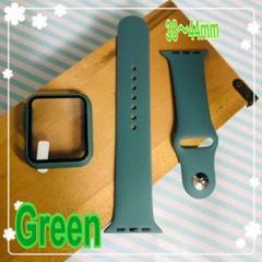 """Thumbnail of """"アップルウォッチ 9Hカバー シリコンセット ベルト ライトグリーン緑 42"""""""