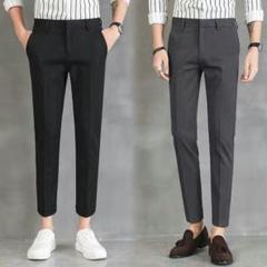 """Thumbnail of """"春の9分の背広のズボンの男のスリムな身の小さい足は感を垂れます韓版の潮流を免3"""""""