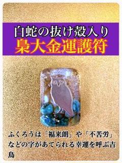 "Thumbnail of ""白蛇様の抜け殻入り梟大金運護符!森の梟"""