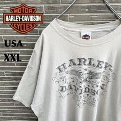 """Thumbnail of """"ハーレーダビッドソン Tシャツ デカロゴ 古着 USA製 ベージュ アースカラー"""""""