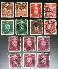 "Thumbnail of ""大日本帝国郵便切手 一式セット《乃木希典 東郷平八郎他各種切手》"""