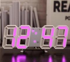 """Thumbnail of """"SNSで紹介されたそうです‼ --3D立体時計--白ぶちピンクライト"""""""