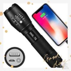"Thumbnail of ""★USBケーブル付き★懐中電灯 led 強力USB充電式充電 防水 緊急携帯"""