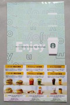 "Thumbnail of ""スタ━バックスドリンクチケット&マクドナルド株主優待券"""