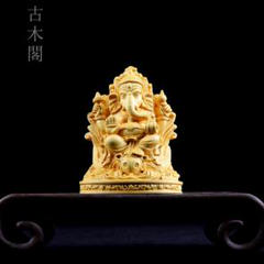 """Thumbnail of """"高品質 黄楊木 象神 実木彫刻 吉祥物 精密細工 工芸品"""""""
