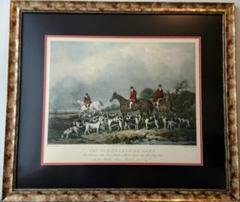 """Thumbnail of """"必見!アンティークの銅版画(エッチング)に手彩色の英国の伝統的狩猟風景"""""""