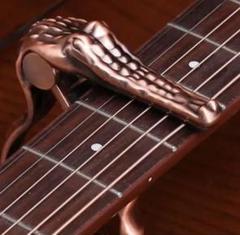 """Thumbnail of """"【ブロンズ】ワニ型 カポタスト カポ ギター ワニ クロコダイル スタイル"""""""