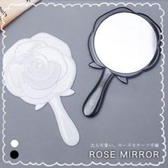 "Thumbnail of ""ハンドミラー 化粧 ミラー 手持ち鏡 鏡 手鏡 鏡 化粧鏡 ブラック メイク道具"""