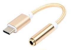 "Thumbnail of ""USB type-C 3.5mmイヤホンジャック 変換アダプタ ゴールド"""