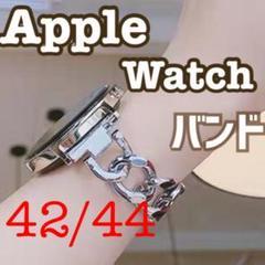 """Thumbnail of """"Applewatch シングル チェーン ベルト バンド シルバー 42/44"""""""