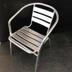 """Thumbnail of """"アルミチェア アルミ椅子 アルミスツール 1人掛け椅子 シルバーチェア"""""""