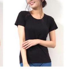 """Thumbnail of """"カップ付き インナー  Tシャツ ブラ  カットソー S ブラック"""""""