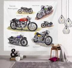 """Thumbnail of """"金具一式付きタペストリー 壁の掛かるタペストリー バイク オートバイ"""""""