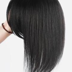 """Thumbnail of """"たっぷり贅沢に人毛を使用ふんわり黒髪の全人毛ヘアピース 前後で全45cm!!"""""""