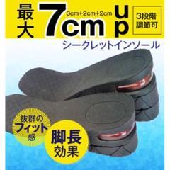 "Thumbnail of ""シークレットインソール 中敷き 上げ底 男女共用 最大7cmサイズアップ 黒"""