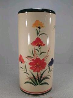"""Thumbnail of """"送料無料!陶器製、傘立て。綺麗な花柄、ヨーロピアンスタイル、小難あり5-3"""""""