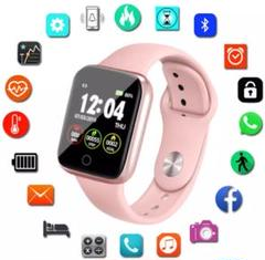 "Thumbnail of ""i5 スマートウォッチ Bluetooth 高機能 桃 2020最新"""