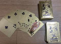 """Thumbnail of """"金カード メタリック 防水 トランプ ミッキーマウス"""""""