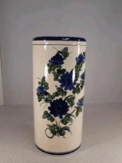 """Thumbnail of """"送料無料!陶器製、傘立て。青と緑のコラボレーション、綺麗、小難あり8-6"""""""