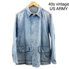"Thumbnail of ""40s vintage US ARMY カバーオール デニムジャケット"""