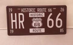 """Thumbnail of """"アメリカ雑貨 おしゃれなブリキ看板 R66 Route66 ナンバープレート型"""""""