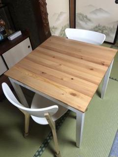 "Thumbnail of ""IKEA イケア ダイニングテーブル 2人用 LERHAMN NORDMYRA"""