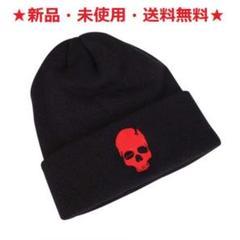 """Thumbnail of """"即購入歓迎♪新品♪お洒落♪ブラックニット帽ドクロ(レッド)♬"""""""