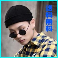 "Thumbnail of ""【男女兼用】ビーニー ニット 帽子 黒 ブラック オールシーズン 大人気 韓国"""