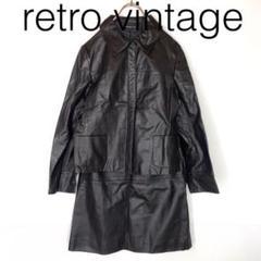 """Thumbnail of """"W1931*vintage レザージャケット スカート セットアップ 黒ブラック"""""""
