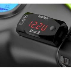 """Thumbnail of """"バイクデジタル時計 電圧 湿度 3つの機能 防水 レッド"""""""