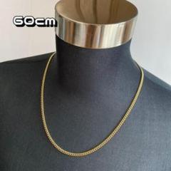 "Thumbnail of ""ゴールド セミロングチェーンネックレス 【60cm】メンズ アクセサリー"""