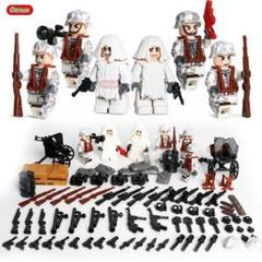 "Thumbnail of ""LEGO互換 ドイツ軍雪中部隊ソルジャー 武器多数 フィグ6体 セット"""
